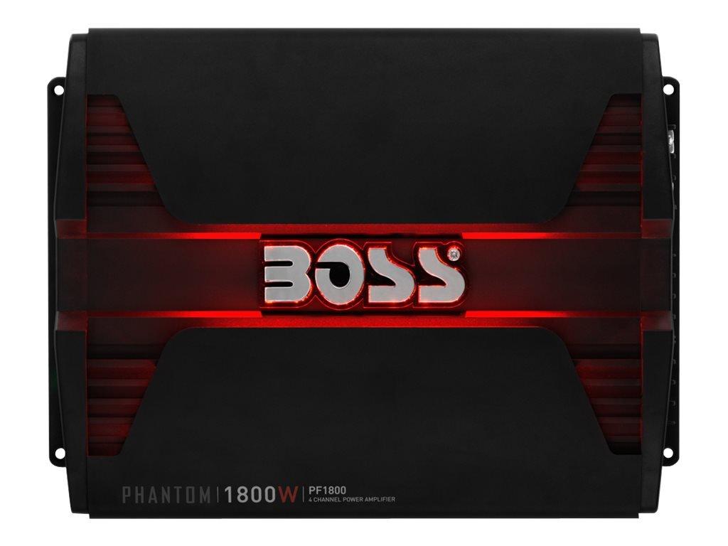 BOSS AUDIO PF2200 Phantom 2200-Watt Full Range, Class A/B 2 to 8 Ohm Stable 4 Channel Amplifier
