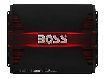 Boss Audio Systems PF1800 Alámbrico Negro - Amplificador de Audio (1800 W, A/