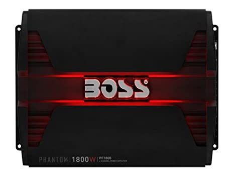 Boss Audio Systems PF1800 Alámbrico Negro - Amplificador de Audio (1800 W, A/B, 0,01%, 103 dB, 338 W, 169 W): Amazon.es: Electrónica