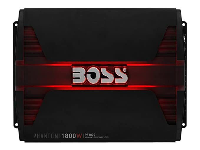 Boss Audio Systems PF1800 Alámbrico Negro - Amplificador de Audio (1800 W, A/B, 0,01%, 103 dB, 338 W, 169 W): Amazon.es: Electrónica