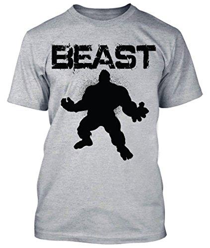 New Generation Apparel Beast Shirt Workout Gym Wear Weightlifting (Heather Gray, 3XL) (3x Hulk Shirt)