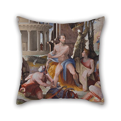 Uloveme Pillowcover Of Oil Painting Domenico Beccafumi - Public Virtues Of Greek (Reed Roman Tub)