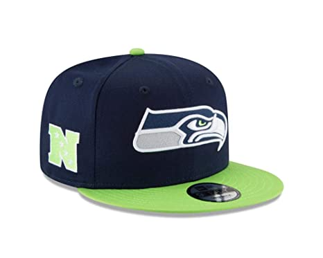 Image Unavailable. Image not available for. Color  New Era Youth Kids  Seattle Seahawks Baycik Navy Blue Snapback ... f264eef89