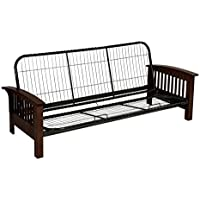 Serta Monaco Futon Frame, Queen, Dark Walnut