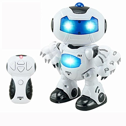 Cute Robot (Putars Cute RC Music & Light Remote Control Robot Toy Intelligent Walking Space Robot Toy)