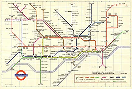 Victoria London Map.Amazon Com London Underground Tube Map Plan Victoria Line U