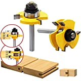 AuSL 2 Pieces Tongue and Groove Router Bit Set 3