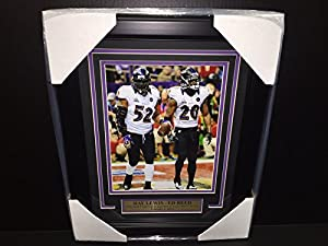 Ray Lewis Ed Reed Baltimore Ravens Sb Xlvii Sb47 Final Game Framed 8x10 Photo