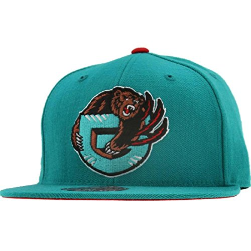 Vancouver Grizzlies Mitchell & Ness HWC Alternate Logo 2 Teal Fitted Hat (7 3/4)