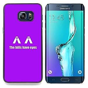 """Qstar Arte & diseño plástico duro Fundas Cover Cubre Hard Case Cover para Samsung Galaxy S6 Edge Plus / S6 Edge+ G928 (Los H1Lls tienen ojos - Gracioso"""")"""