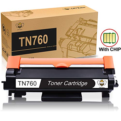 TN760 TN730 Toner with CHIP (1-Pack) for Brother TN-760 TN-730 Black High Yield Toner Cartridge Compatible for Printer Brother MFC-L2730DW DCP-L2550DW MFC-L2750DW