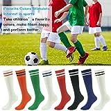 Youth Soccer Socks Fasoar Teens Knee High