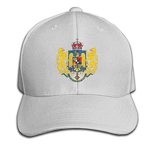 Hip Hop Coat Of Arms Of Romania Flag Emblem Cotton Baseball Cap Peaked Hat Adjustable For One Size Fit All Ash