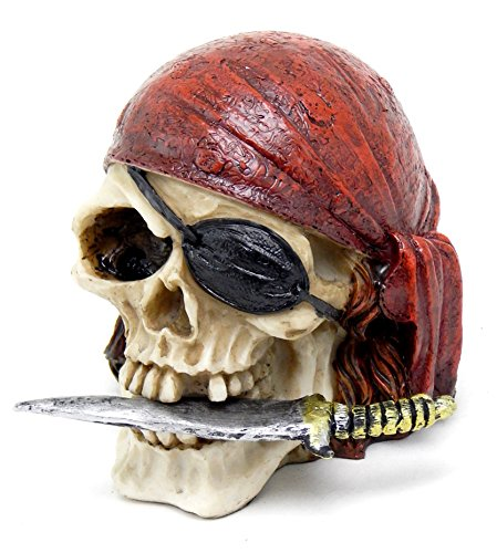 Pirate-Skull-Head-with-Treasure-Collectible-Figurine-Statue-Decoration