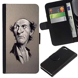 All Phone Most Case / Oferta Especial Cáscara Funda de cuero Monedero Cubierta de proteccion Caso / Wallet Case for Apple Iphone 6 // escritor retrato caricatura hombre famoso