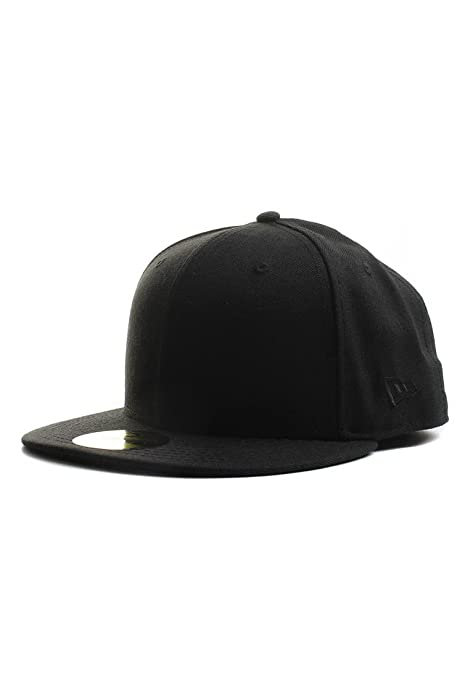 Amazon.com   New Era Plain Tonal 59Fifty Fitted Hat (Black) Men s ... 13aefe245