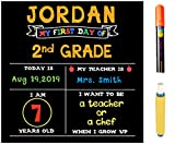 First Day of School Chalkboard | Includes Chalk Marker or Chalk | 12' x 12' | Erasable, Reusable | Made in the USA