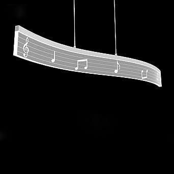 LED Pendelleuchte Hängelampe Hängeleuchte Modern Musik Design Decke  Beleuchtung Leuchte Esszimmerlampe Welle Form Acryl Panel Und