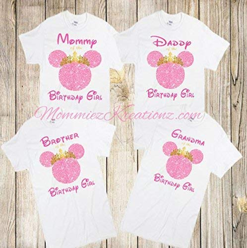 d554e61f Amazon.com: Minnie Mouse Pink & Gold Family Shirt, Minnie Mommy ...