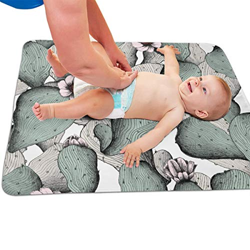 V5DGFJH.B Baby Portable Diaper Changing Pad Cactus Leaf Urinary Pad Baby Changing Mat 31.5