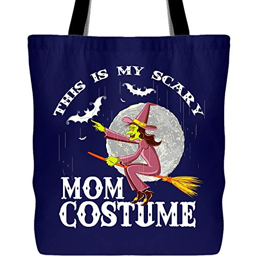 I Love My Scary Mom Costume Canvas Tote Bags, This Is My Scary MomCostume Tote Bag for Shopping