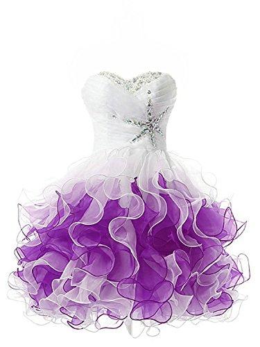 Partykleider Ballkleider Abendkleider Homecoming A Kurz Violett Kleid Linie Cocktailkleider PPRIU