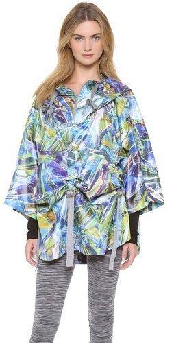 JKT poncho Adidas Run de McCartney estampado Stella chaqueta CAPE wqwPOf