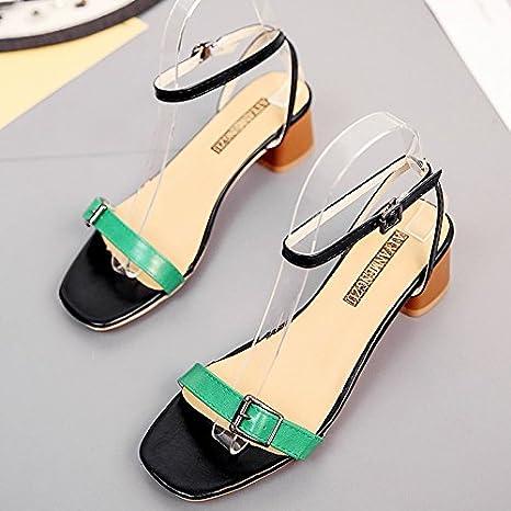 9d15475913 XY&GK Donna Sandali estivi punta nuda con sandali, donne con semplici  scarpe, 37,