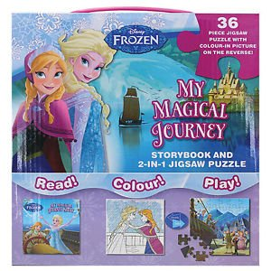 Disney Frozen My Magical Journey Storybook /& 2-In-1 Jigsaw Puzzle