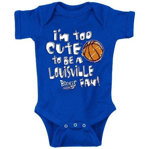 Kentucky Basketball Fans. Too Cute to be a Louisville Fan. Royal Onesie (NB-18M) (18M).