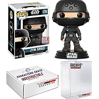 Funko Pop! NYCC Star Wars Jyn Erso Helmet Rogue One, Limited Edition Fall Convention Exclusive, Concierge Collectors Bundle