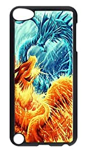 Diy Yourself iPod Touch 5 case cover, Ice Dragon Vs Fire Dragon Rugged case cover Protector for iPod Touch 5 / k4eTzgWUwbJ iPod 5th Generation PC Hardshell case cover Black Black