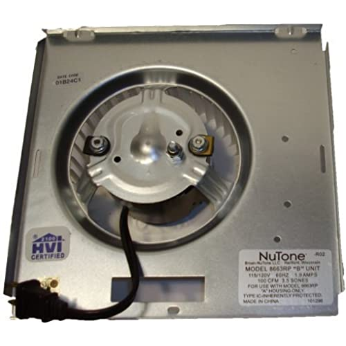 Nutone Motor  8663RP  Assembly   97017705 1550 RPM  1 2 amps  115 volts. NuTone Bathroom Fan Replacement Parts  Amazon com