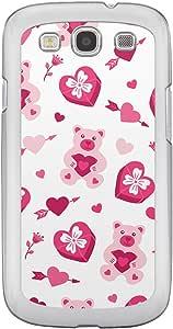 Loud Universe Samsung Galaxy S3 Love Valentine Printing Files A Valentine 30 Printed Transparent Edge Case - White/Pink