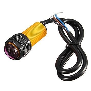 quickbuying Smart coche Robot E18-D80NK infrarrojo obstáculo evitación fotoeléctrico Sensor de proximidad Interruptor 3 - 80 cm Rango de detección ...