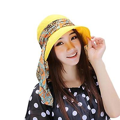 Respctful ? Sun Hat for Women Boho Floral Uv Protection Foldable Brim Bucket Hat Beach Fishing Hat Summer Beach Sun Hat