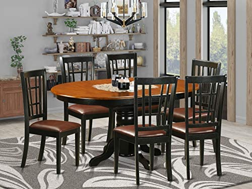 7 PC Dining room set-Dining Table and 6 Wooden Kitchen Chairs