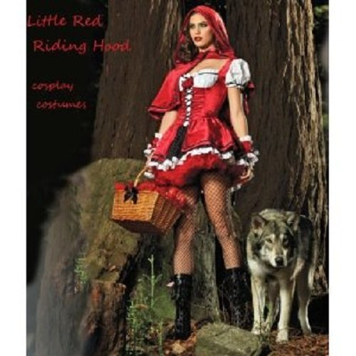 Little Red Riding Hood costume Halloween Cosplay Costume Set (Little Red Riding Hood Cosplay)