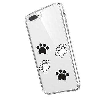 Inonler Impresiones Lindas de la Pata de Perro Suave Transparente Funda(iPhone 6/6S,Transparente)