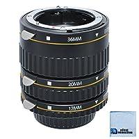 Enfoque automático Conjunto de tubos de extensión macro para Nikon D5500 D810 D750 D300S D600 D700 D800E D800E D300 D300 D500 D500 D500 D500 D700 D700 Cámara y cámara de microfibra