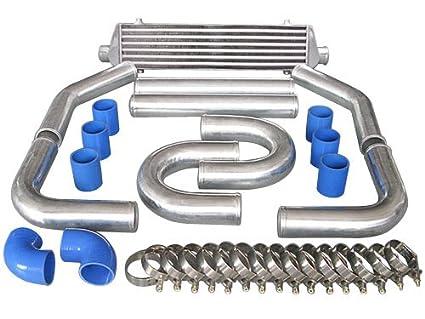 """27.5x5.5x2.5 Turbo Intercooler + 2.25"""" Piping kit Nissan 200sx 240sx"""