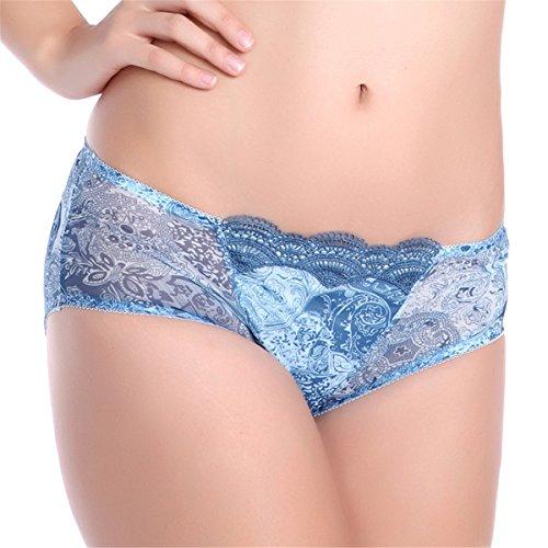 YALL-Mujeres Sra cordón de la cintura cinturones triángulo ropa interior femenina Blue