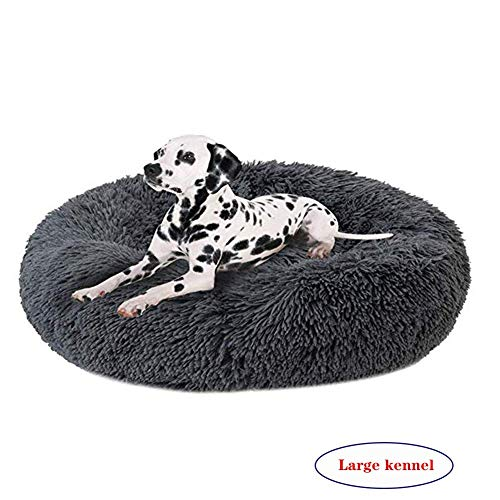 Lbobbo Luxuriöse Orthopädische Haustier Hund Katze Beruhigendes Bett, Waschbar saktiv Runde Hundebett, Donut-Form…