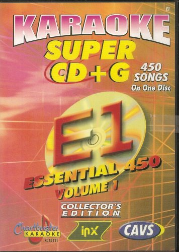 CHARTBUSTER SUPER CD+G Volume #1 - 450 CDG Karaoke Songs Playable on CAVS System or on your PC DVD player using Windows. ()