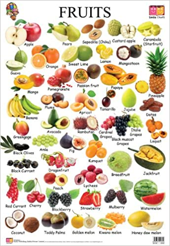 fruit charts: Buy fruits educational wall charts book online at low prices in