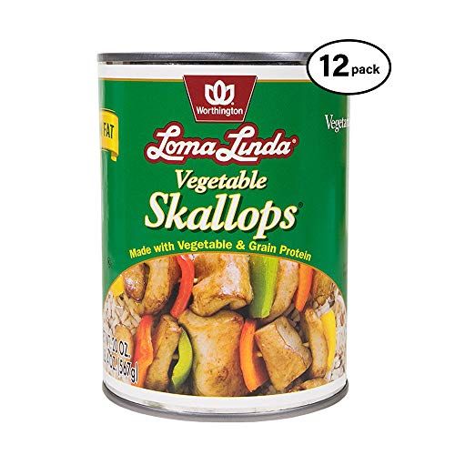 Loma Linda - Plant-Based - Vegetable Skallops (20 oz.) (Pack of 12) - Kosher