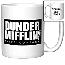Dunder Mifflin (The Office) World's Best Boss Funny Gift Coffee Mug (Coffee Cup)