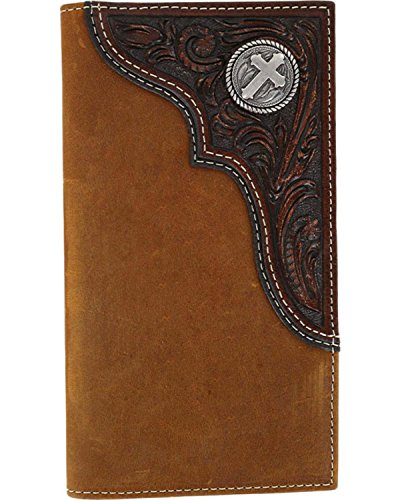 Tooled Leather Checkbook Cover - 9
