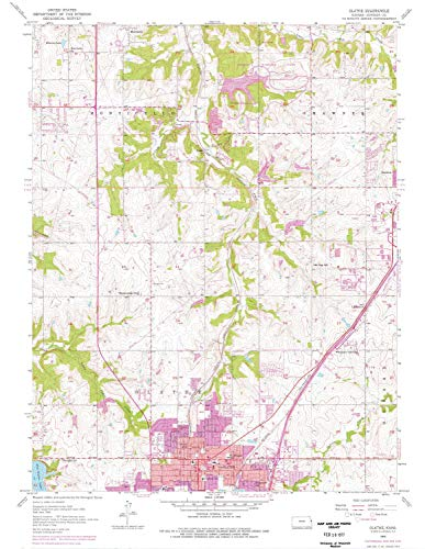 (YellowMaps Olathe KS topo map, 1:24000 Scale, 7.5 X 7.5 Minute, Historical, 1956, Updated 1976, 26.79 x 20.74 in - Polypropylene)