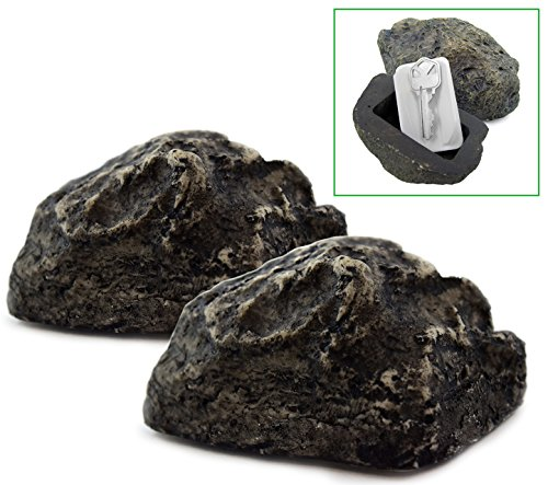 McKay Hide-A-Key Fake Rock Key Holder: Looks and Feels like a Real Rock while Safely Hiding your Spare Keys Outdoors (2 Pack)